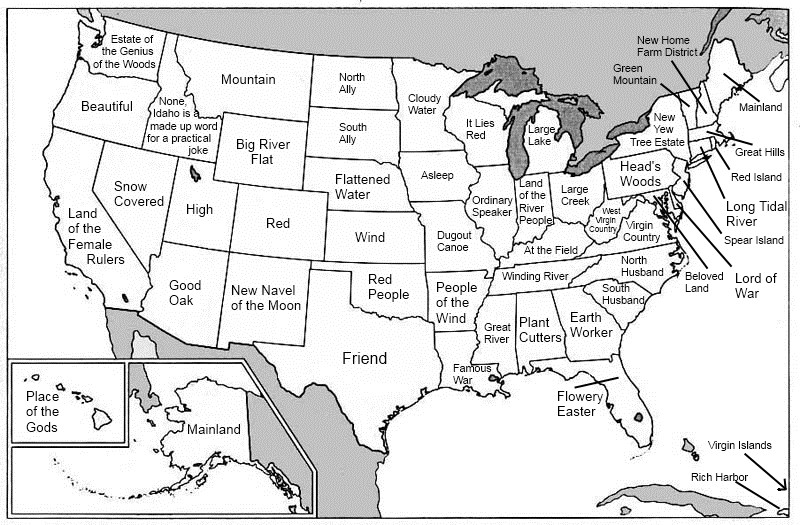 A Map Of The USA In English For A Change Language Trainers USA Blog - Us map full state names