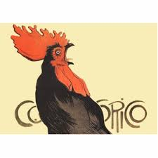 "The sounds of a rooster crowing in French is ""cocorico!"""