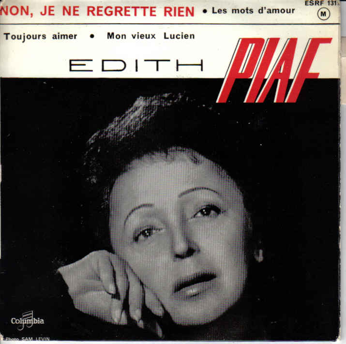 French Tattoo Je Ne Regrette Rien No Regrets: Language Trainers :: Foreign Song Reviews From Edith Piaf